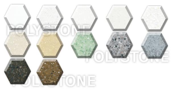 Polystone Acrylic. Цвета искусственного камня Polystone