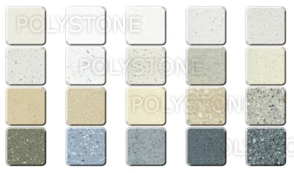 Polystone Polyester. Цветовая гамма (цвета, декоры)
