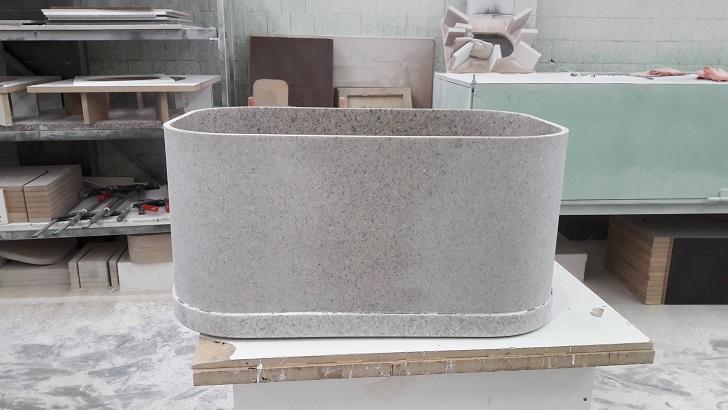 Глубокая мойка из искусственного камня